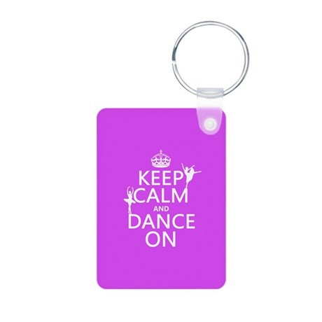Keep Calm and Dance On (ballet) Keychains