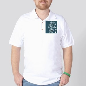 Keep Calm and Dive On Golf Shirt