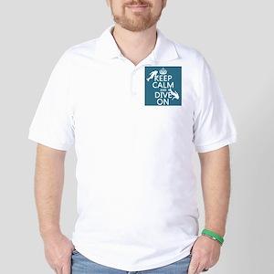 Keep Calm and Dive on (scuba) Golf Shirt