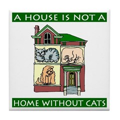 Cats Tile Coaster
