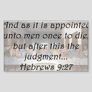 Hebrews 9:27 Sticker