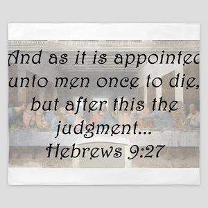 Hebrews 9:27 King Duvet