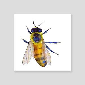 """Bee Square Sticker 3"""" x 3"""""""
