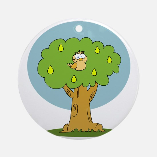 partridge in a pear tree Round Ornament