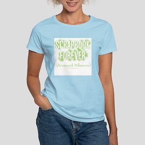 Scrapbook Forever - Green Women's Pink T-Shirt