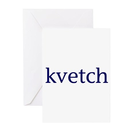 Kvetch Greeting Cards (Pk of 10)