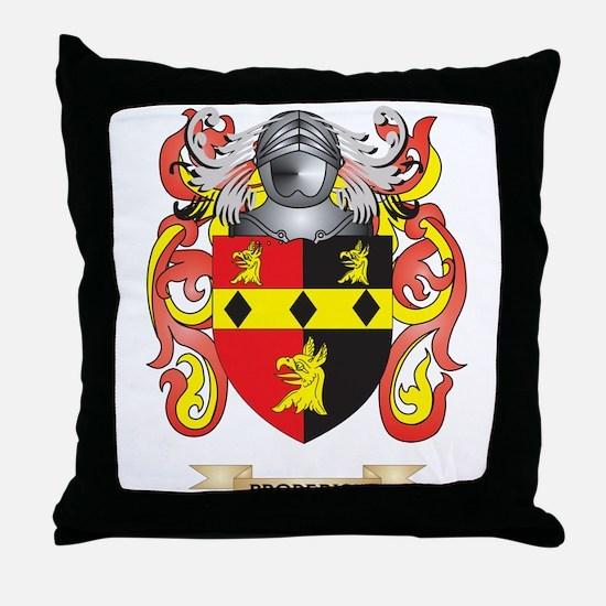 Broderick Coat of Arms Throw Pillow