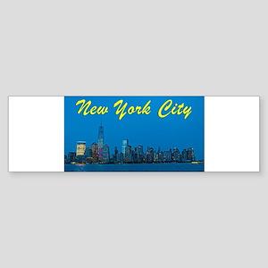 New York City Skyline at night Bumper Sticker