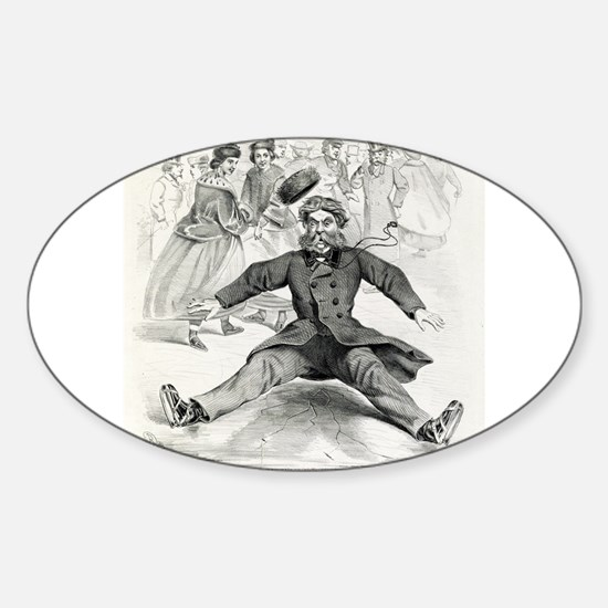 A big thing on ice - 1862 Sticker (Oval)