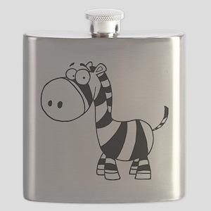 cute cartoon baby zebra Flask