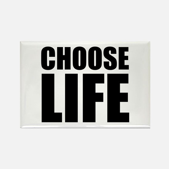 Choose Life Rectangle Magnet