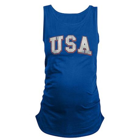 Vintage Team USA Maternity Tank Top