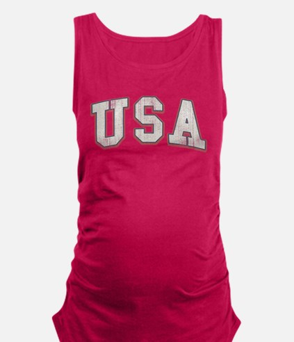 Vintage Team USA Maternity Tank Top