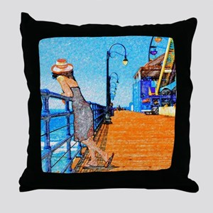 Santa Monica Breeze Throw Pillow