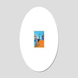 Santa Monica Breeze 20x12 Oval Wall Decal