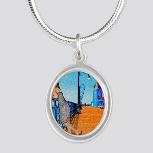 Santa Monica Breeze Silver Oval Necklace