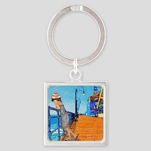Santa Monica Breeze Square Keychain