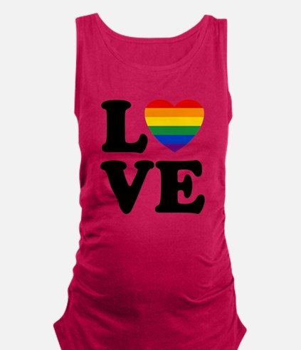 Gay Love Maternity Tank Top