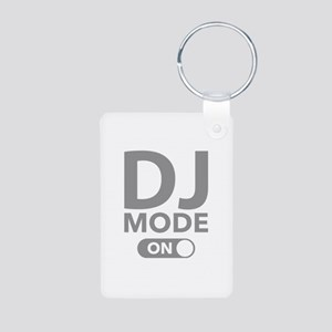 DJ Mode On Aluminum Photo Keychain