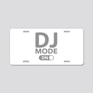 DJ Mode On Aluminum License Plate