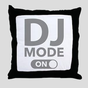 DJ Mode On Throw Pillow