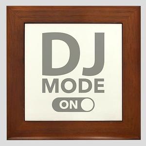 DJ Mode On Framed Tile