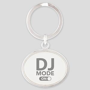 DJ Mode On Oval Keychain