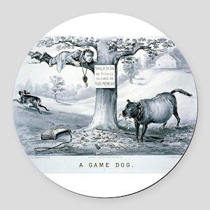 A game dog - 1879 Round Car Magnet