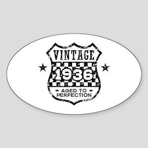 Vintage 1936 Sticker (Oval)