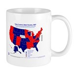 State House Control, 2007 State Map Mug-Blue