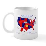 State Senate Control, 2007 State Map Mug-Red