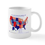 Gov & Leg Control, 2007 State Map Mug-Blue