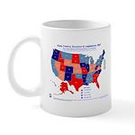 Gov & Leg Control, 2007 State Map Mug-Red