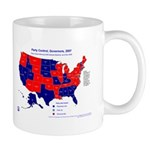 Governors Control, 2007 State Map Mug-Blue
