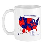 Governors Control, 2007 State Map Mug-Red
