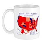 President by CD by Party 110th Congress Mug-Red