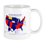 State House Control, 2005 State Map Mug-Blue