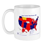 State House Control, 2005 State Map Mug-Red