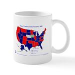 State Senate Control, 2005 State Map Mug-Blue