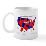 State Senate Control, 2005 State Map Mug-Red