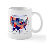 Gov & Leg Control, 2005 State Map Mug-Blue