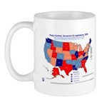 Gov & Leg Control, 2005 State Map Mug-Red