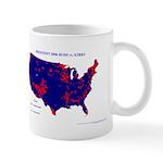 Bush vs. Kerry by County Mug-Blue