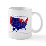 Bush vs. Kerry by State Mug-Blue