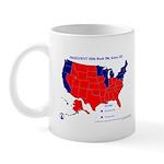 Bush vs. Kerry by State Mug-Red