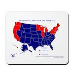 Bush vs. Kerry Mousepad-Blue