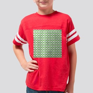 Green Ladybugs and Green Flow Youth Football Shirt
