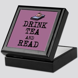 Drink Tea and Read Keepsake Box