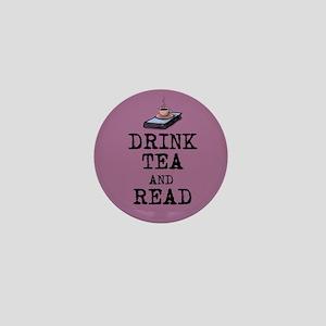 Drink Tea and Read Mini Button
