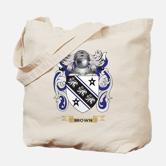 Brown Coat of Arms Tote Bag